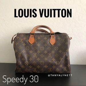 Vintage Louis Vuitton monogram speedy 30 #301